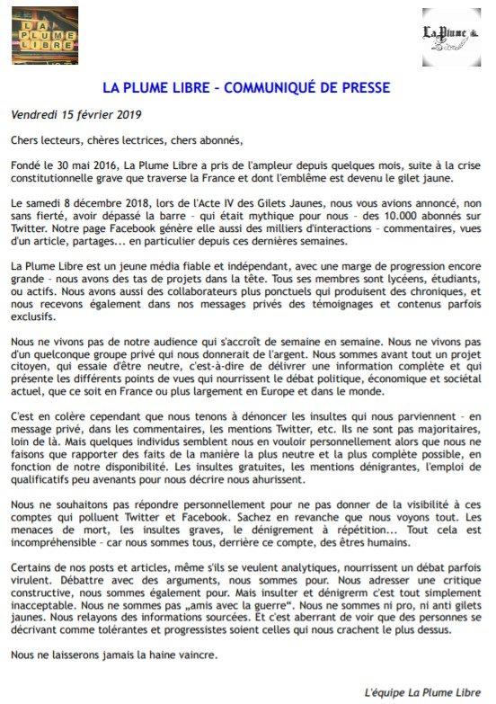 La Plume Libre's photo on #VendrediLecture