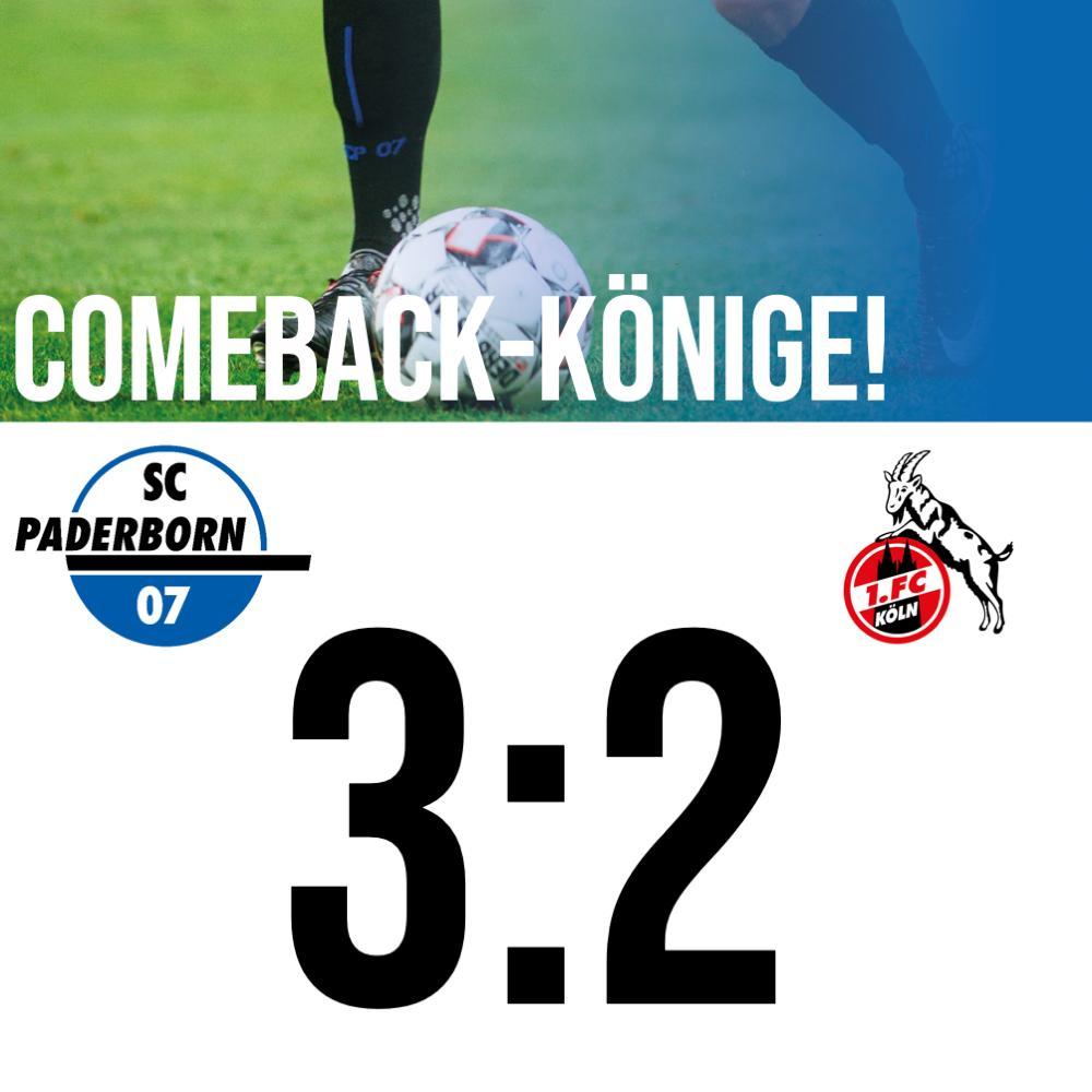 Abpfiff! Unser #SCP07 gibt niemals auf und dreht das Spiel gegen den @fckoeln nach einem 0:2-Rückstand! Überragend ist das! ____ Ende. #SCPKOE (3:2).