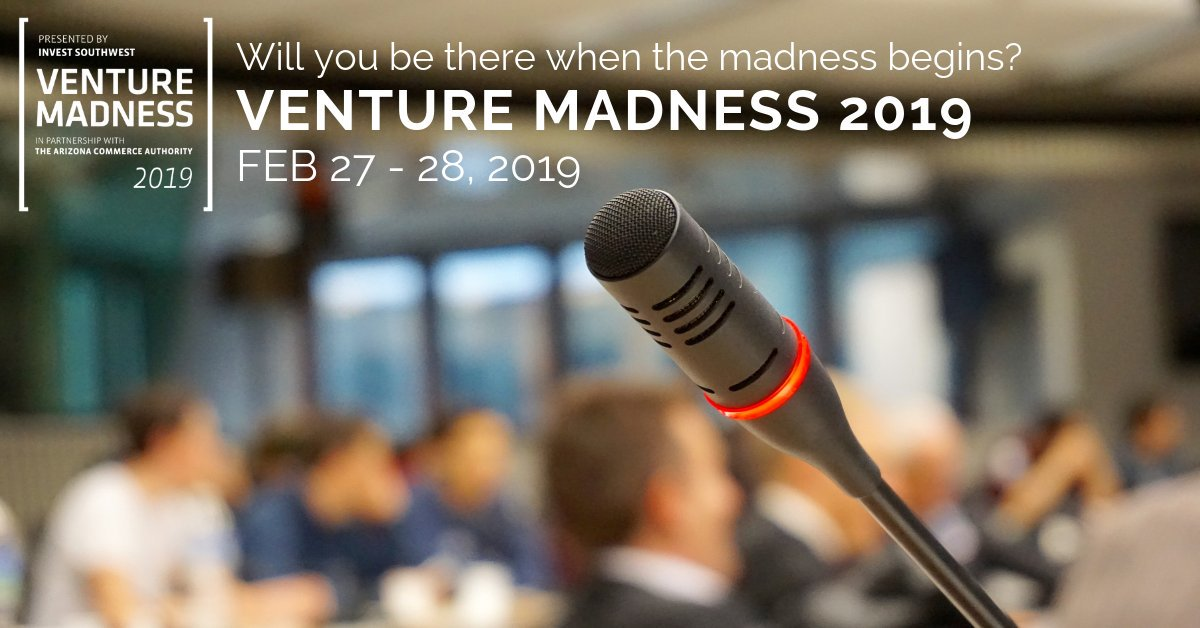 Experience the spark of #innovation at @VentureMadness. See firsthand how companies in 6 industries (Consumer, Growth, Hardware Tech, Institutional Tech, Medical & SaaS) will pitch their way through the conference on 2/27 & 2/28. https://bit.ly/2GpDLAu #VM19 #TheConnectedPlace