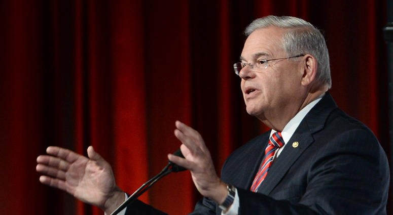 """""""There is no national emergency at the border beyond the humanitarian crisis that was created by the Trump organization's immigration policies,"""" said @SenatorMenendez: http://bit.ly/2V3ccB7"""