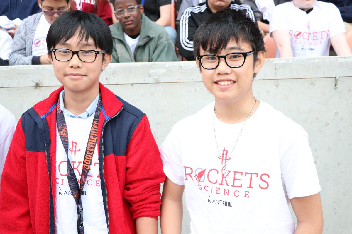 """The Houston Rockets and @AntPoolOfficial are excited to partner with @SpaceCenterHou in offering the """"Rockets Science"""" program to select middle school students.  """"Rockets Science"""" is an introduction to rocketry that brings the wonder of science directly to students! 🚀"""