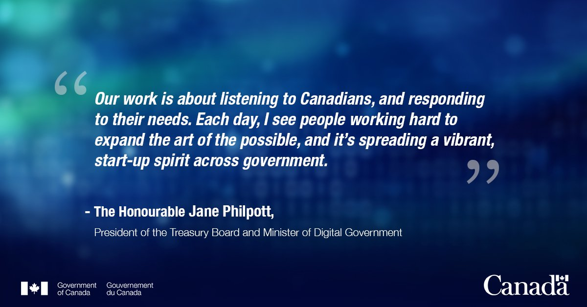 JUST IN: Check out Min. Philpott's blog reflecting on #digital government and what's in store for 2019.  Share your thoughts with us using #GCDigital: http://ow.ly/GfP050lvtqx.