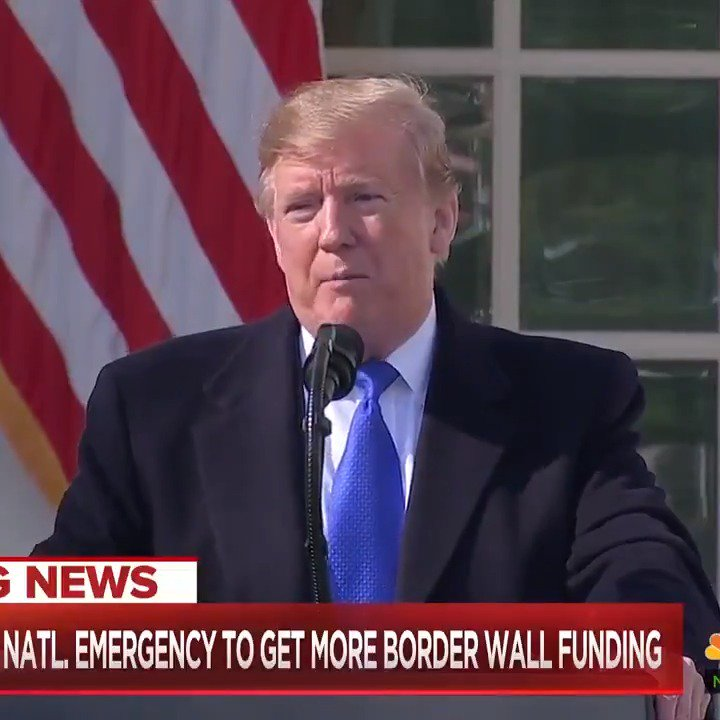 Clearest sign that @realDonaldTrump's #FakeTrumpEmergency is not legitimate? The President himself says he didn't need to declare a national emergency – it's just a faster way to force taxpayers to foot the bill after Congress wouldn't let him have his way.