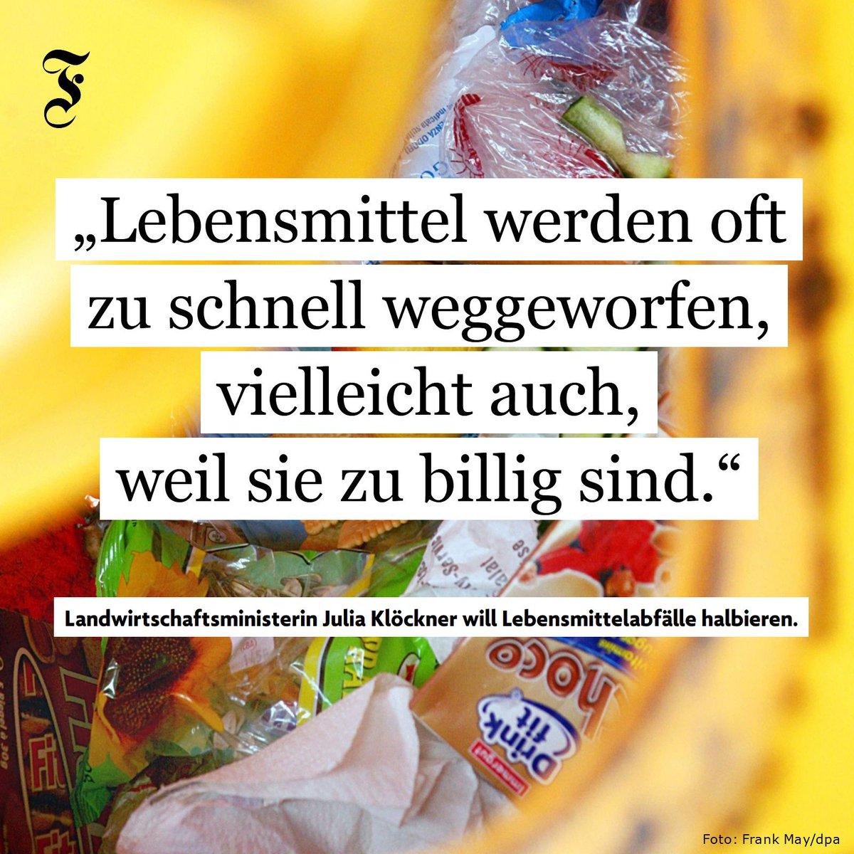 Ernährungsministerin @JuliaKloeckner will die Lebensmittelabfälle in Deutschland halbieren. Doch reichen ihre Pläne dazu aus?  https://t.co/4XYTFvVBuO