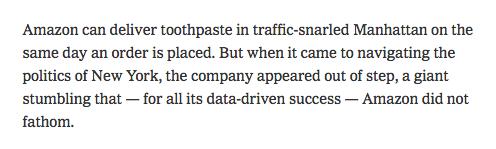 Inside the Amazon debacle: The @jdavidgoodman @KYWeise tick-tock you were waiting for https://t.co/4HCFB8b73n