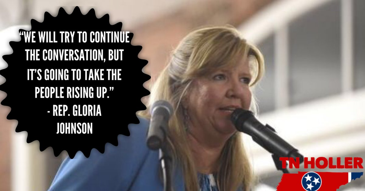 """""""We will try to continue the conversation, but it's going to take the people rising up.""""  - @VoteGloriaJ Re: Medicaid Expansion & @GovBillLee   ARTICLE: http://tnholler.com/2019/02/dems-meet-gov-lee-to-plead-for-medicaid-expansion-childrens-hospitals-against-gop-block-grant-idea/…"""