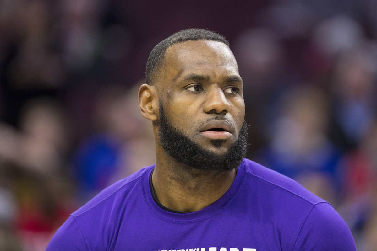 """""""Word on the street"""" is that LeBron's playing at 280 pounds; groin injury hurt his conditioning program, per @WindhorstESPN"""