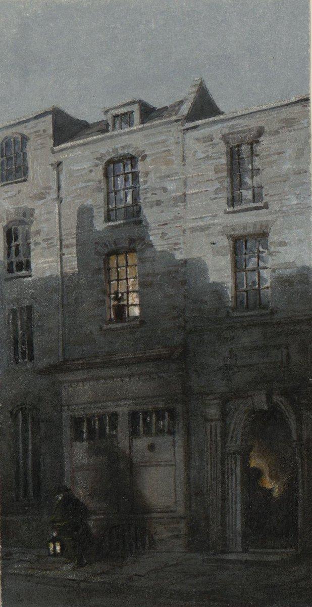 William Turner, nonostante già in vita fosse un artista conosciuto e rispettato, non aveva molti amici e preferiva trascorrere la maggior parte del tempo col padre che visse con lui per trent'anni, lavorando nel suo studio come assistente. Casa natale di Turner, 1854  #MuseoIdeale