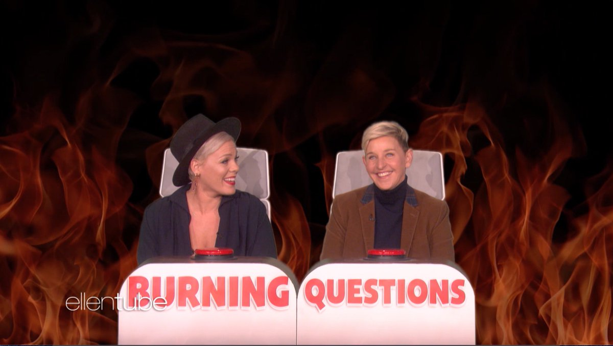 This round of #BurningQuestions with @Pink was LIT.