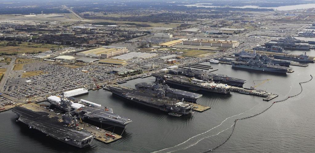 [1800 × 876] Nine Aircraft Carriers berthed at Norfolk, Virginia – the world's largest naval base from /u/casualphilosopher1 at #WarshipPorn ➡ http://bit.ly/2TTK3MA