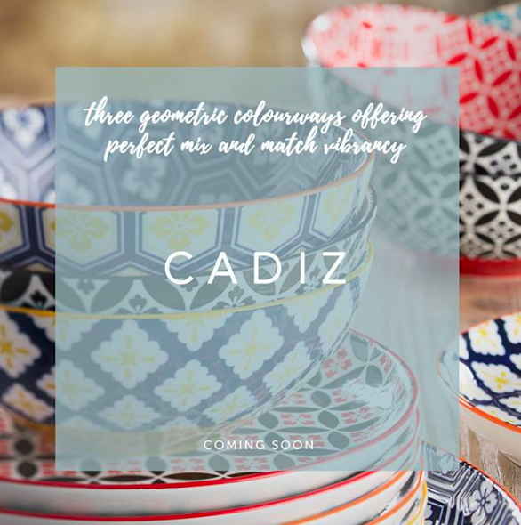 @UtopiaTableware's Vitrified Porcelain Cadiz range showcases three geometric colourways offering perfect mix and match vibrancy to any venue. 😍🤩 #TabletopMatters #useUtopia #Hospitality #Tableware #Ambiente19