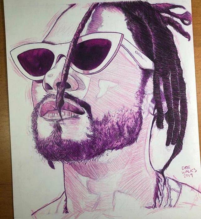 Pencil on paper by @drewalks 🙏🏾#migueltvart