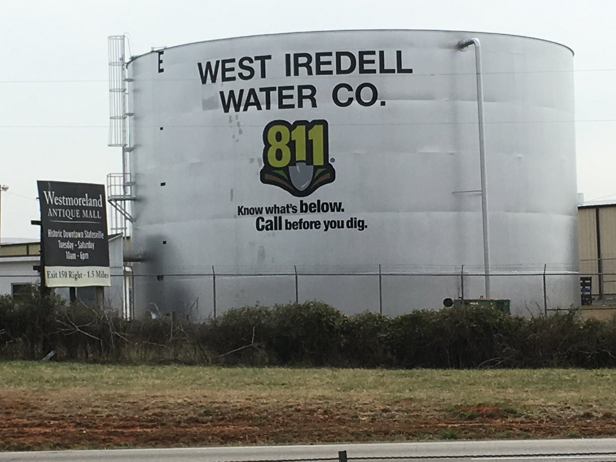 Take a look at the fresh paint on this water tower in West Iredell County. You'll see it next time…