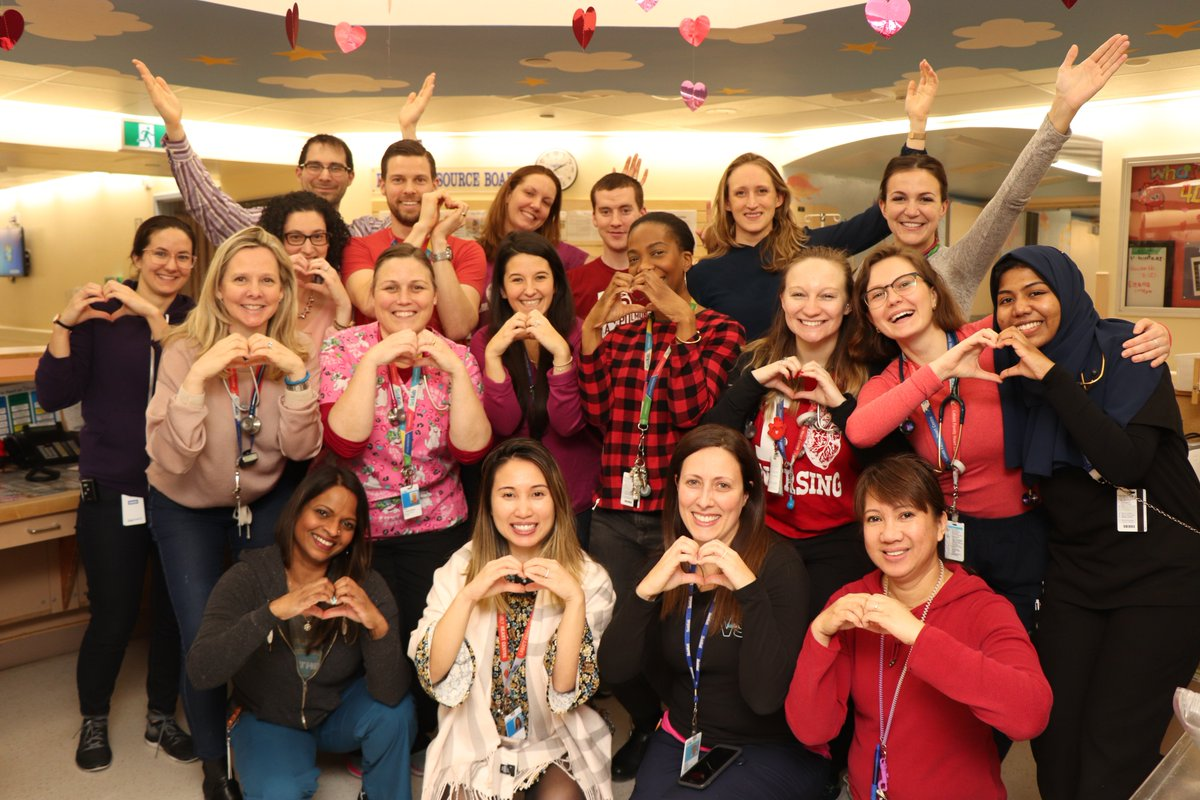 From our #hearts to yours! Our #cardiac team is celebrating #HeartMonth. Fun fact: SickKids has been performing heart transplants for almost 30 years! ❤️