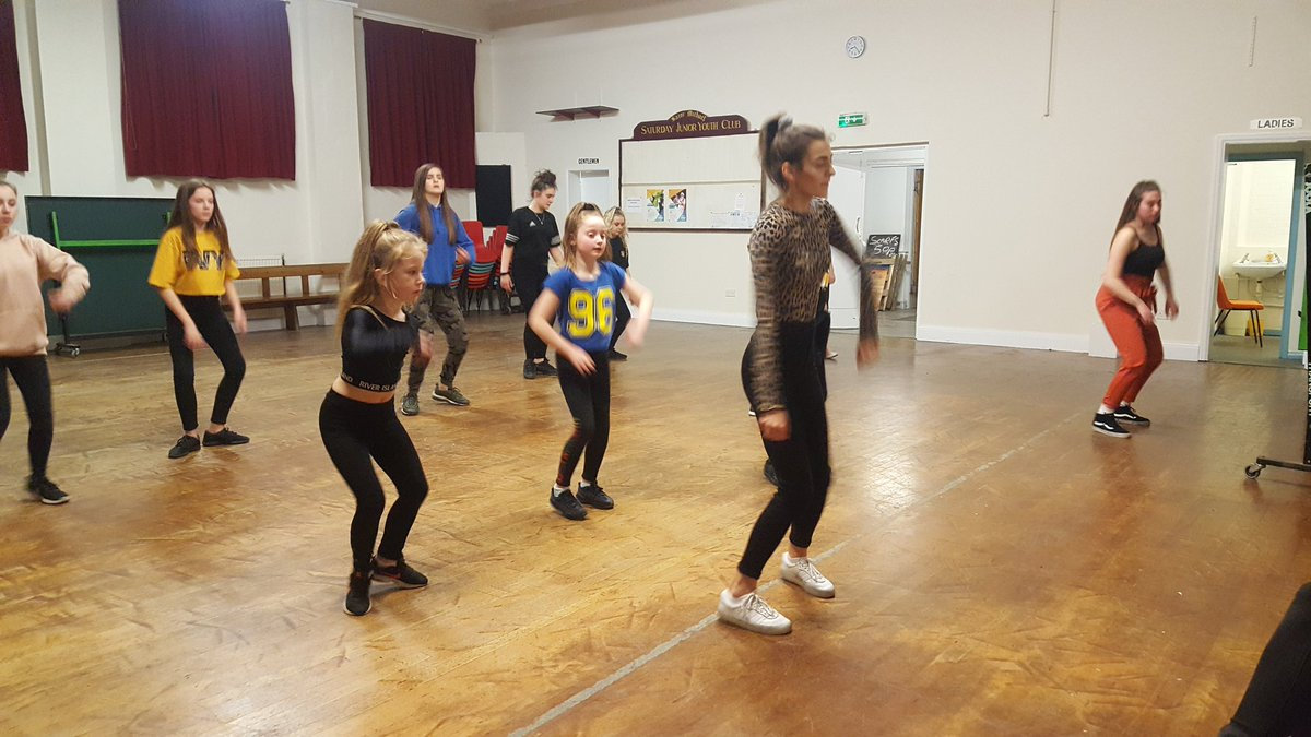 Another great session this evening at @PLCommunities  Kicks dance encouraging older participants Keeley and Alina to volunteer by teaching younger participants a new dance routine.