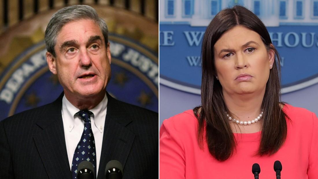 BREAKING: White House press secretary Sarah Sanders interviewed by special counsel Robert Mueller's office  https://t.co/gTiVpfyg9A