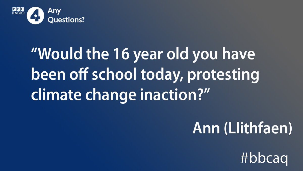 Do you support the schoolchildren who went 'on strike' today in protest over climate change?   #bbcaq