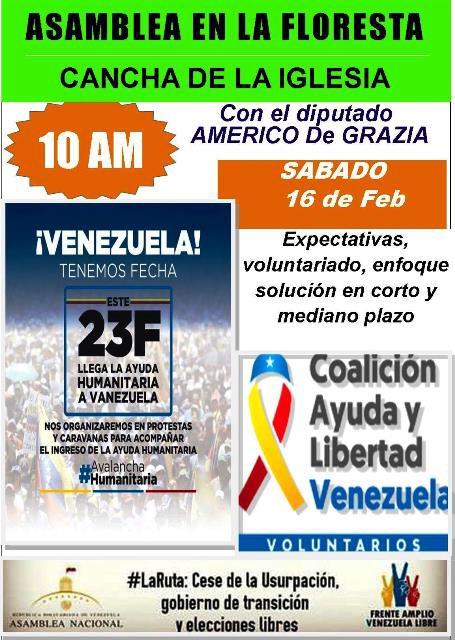Sábado #16F en Maturin. @jguaido Presidente y fuera el #Usurpador La mejor ayuda humanitaria para el pueblo Vzlano, es derrocar la Dictadura.