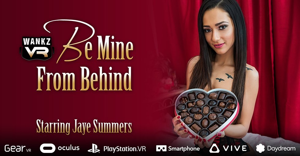 Jaye Summers returns to celebrate #ValentinesDay with you in Be Mine From Behind. 50% off 1st month sale on all weekend.  https:// bit.ly/2X2Os1G  &nbsp;   @jayesummersxo #WankzVR #VirtualReality #VR #NewRelease #fit #BeMyValentine #gorgeous #Smile<br>http://pic.twitter.com/NTs33kpXAL