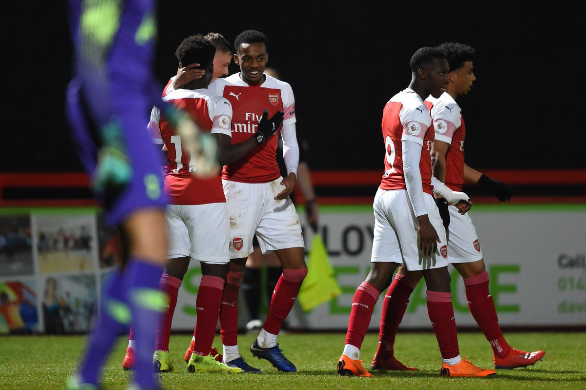 ⚽️⚽️⚽️⚽️  @ArsenalAcademy beat rivals Spurs 4-0 in the #NorthLondonDerby!  #PL2 bragging rights...