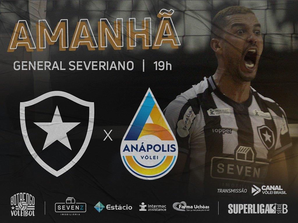Sábado é dia de deixar tudo em quadra por mais uma vitória na Superliga B. Vamos, BOTAFOGO!💪🏐  A entrada é FRANCA para torcedores com a camisa do Fogão.  #RumoàElite