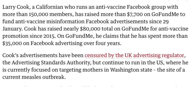 Silicon Valley: Technology is about progress!  Also Silicon Valley: Let us help you raise money on GoFundMe so you can then pay for Facebook ads that include antivax misinformation.   https://t.co/H087Ftb6pX