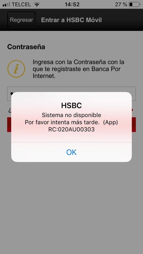 Hsbc México On Twitter Hola Indícanos De Favor El Mensaje De