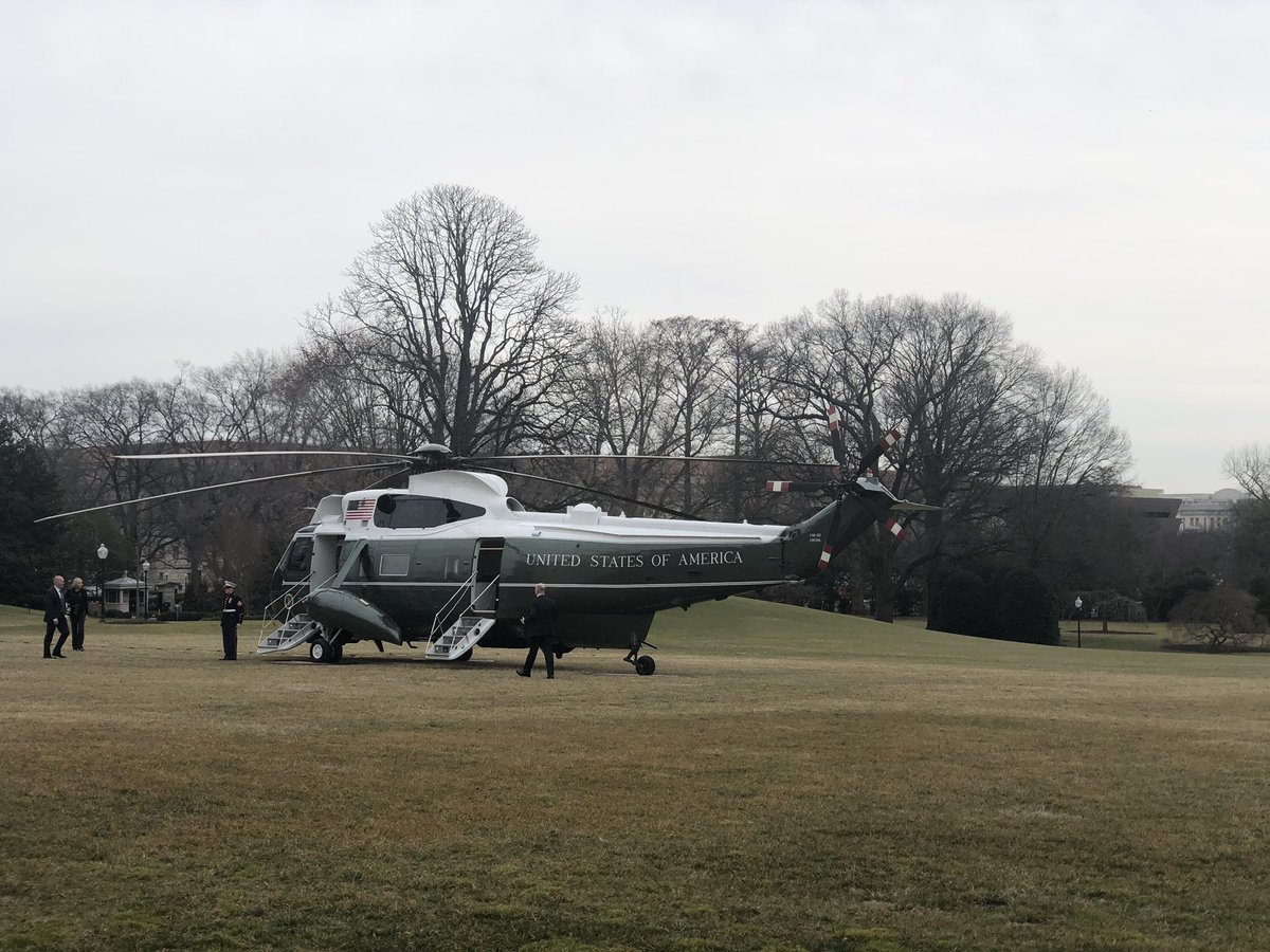 President Trump took no questions on the lawn as he left the White House for weekend in Florida.