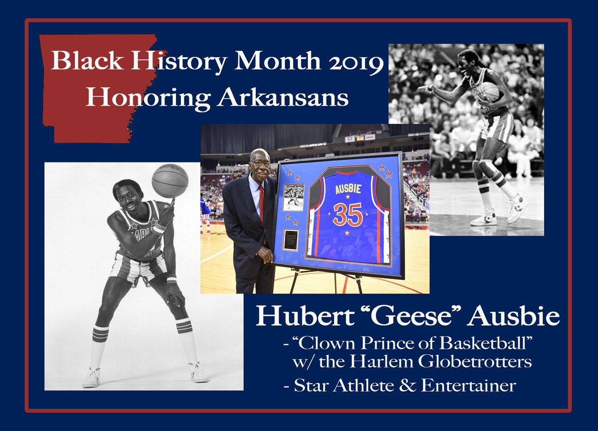 """I'm continuing to honor Arkansans during #BlackHistoryMonth    Hubert """"Geese"""" Ausbie was a star athlete who attended @PhilanderSmith, played for the @Globies & gave back to the Little Rock community. He's a true legend whose contributions are enduring."""