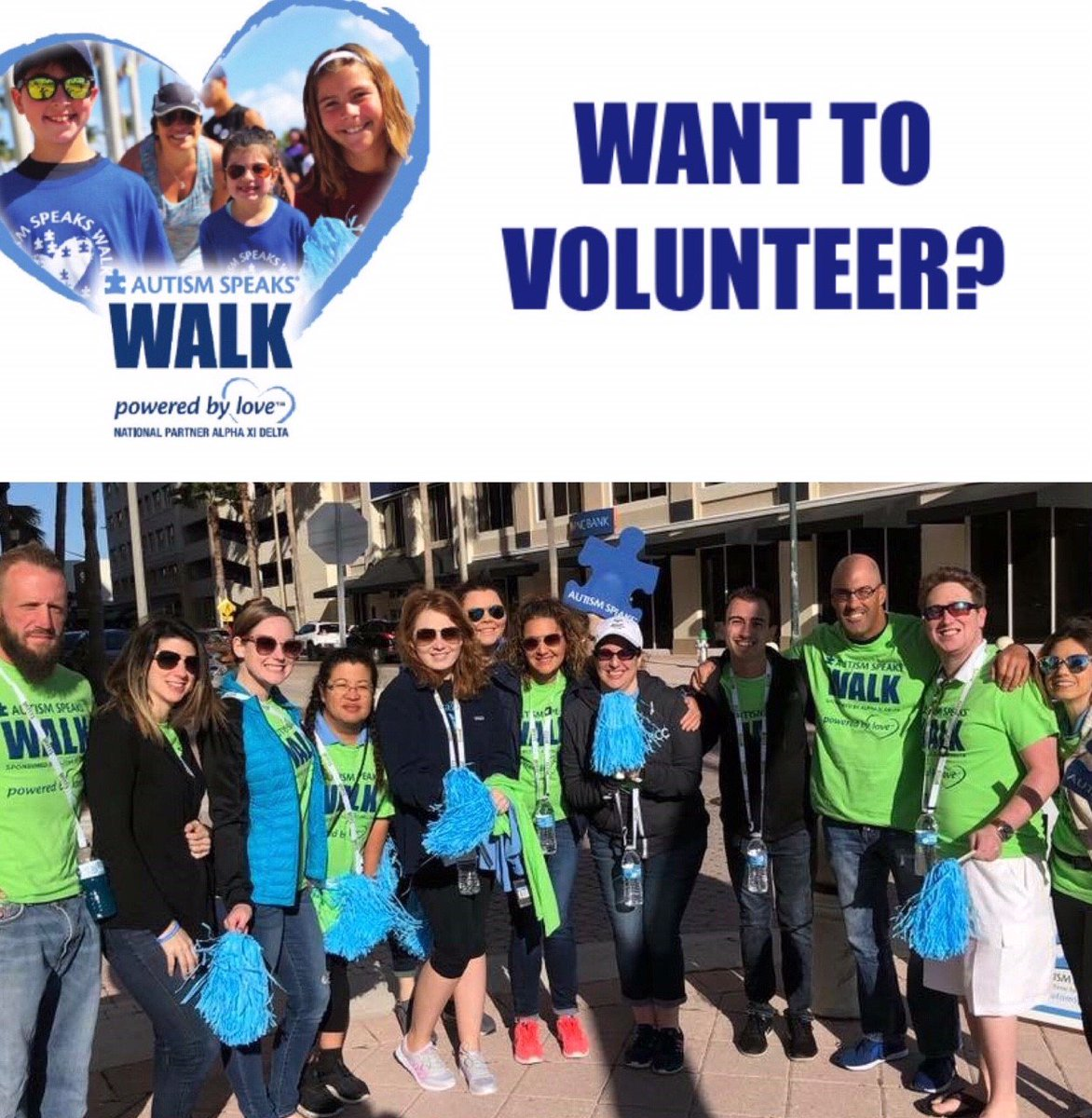VOLUNTEERS NEEDED! For the #AutismSpeaksWalk! Their sensory-friendly family walk is coming up on March 3, and they could use YOUR help! If you're interested in volunteering or walking, register at https://t.co/uAWtArpjIp.