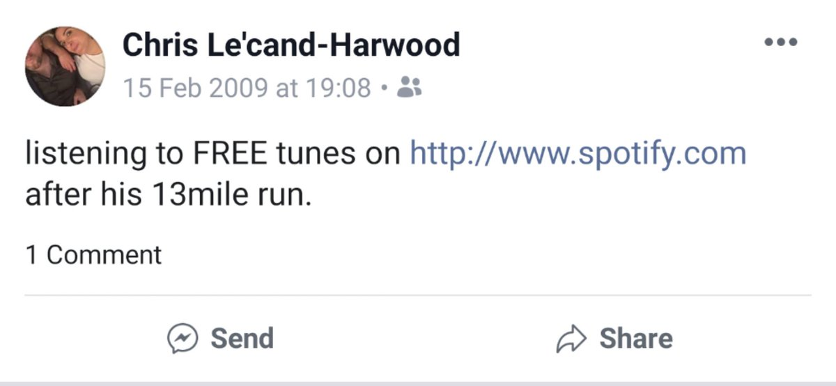 The novelty of free tunes way back when #10YearChallenge #Spotify