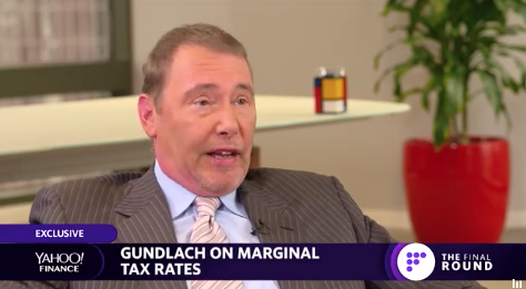 EXCLUSIVE: Jeffrey Gundlach talks tax policy. Says his marginal rate is 52.6%, and that taxes should be raised on people like Mitt Romney who pay 14%. @SallyPancakes  https://t.co/Gtto4EpQds