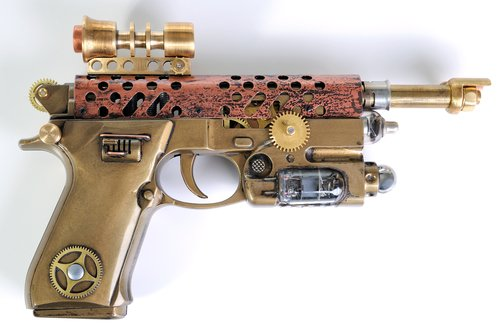 Do we need more rayguns in Rislandia? #Steampunk