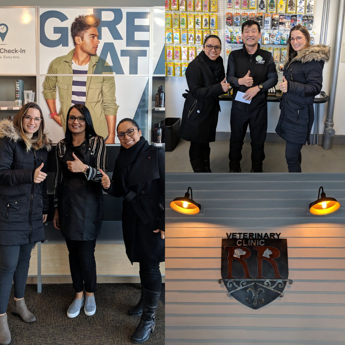 Team Economic Development welcoming @GreatClips​, Range Road Veterinary Clinic​, and New owner Jimmy at @RimsAndRovers​ #ShopT4X #investinbeaumont #BeaumontAB  http://investinbeaumont.ca