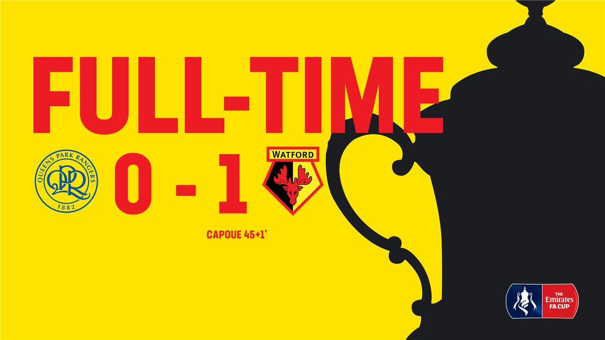 We're in the last 8⃣!!! 🏆  #QPRWAT 0-1 [FT]