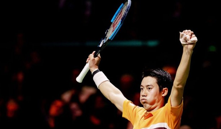 Kei Nishikori wins the last six games to beat Marton Fucsovics 6-3, 6-2 and reach the semifinals in Rotterdam vs Stan Wawrinka.  Kei passes Federer, up to #6 on Monday. Gonna be the top seed in Dubai. <br>http://pic.twitter.com/1JIUAqZXEx