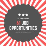 Image for the Tweet beginning: eAlert❗️There are 61 job opportunities