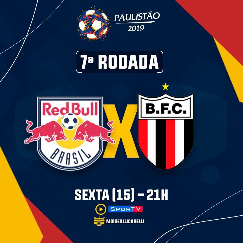 Embalado, o Red Bull Brasil recebe o Botafogo na noite desta sexta-feira (15), pela sétima rodada do Paulistão 2019! ⚽Red Bull Brasil x Botafogo ⏰21h 🏟Moisés Lucarelli 📺SporTV #PaixãoQueNãoSeMede #FPF #EsseÉoMeuJogo  #FutebolPaulista