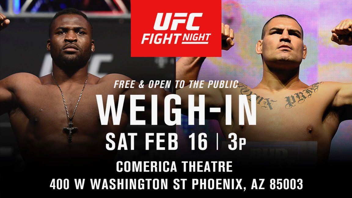 I want to see my home state represent. Come out! ¿Dónde anda la  raza de Arizona?   #UFCPhoenix Weigh-Ins | Saturday | From @ComericaTheatre