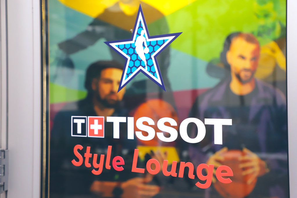Next stop: The @TISSOT Style Lounge!   #TissotStyleWatch   #NBAAllStar
