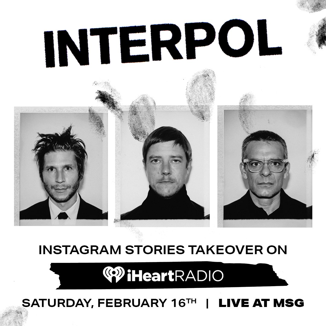 Hey you! @Interpol will be taking over our iHeartRadio Instagram Stories live from their show at Madison Square Garden.   Follow @iHeartRadio on Instagram to tune in!