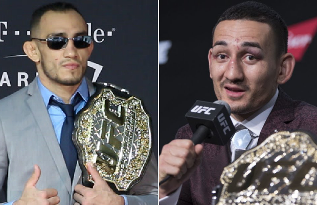 "🗣️Rumours Circulating:  🇺🇸Tony Ferguson vs. 🇺🇸Max Holloway  🏆For the Interim Lightweight Title  👊""Battle of the Back Tattoos.""  🏟️April 13, 2019 at UFC 236.  🍿Book it."