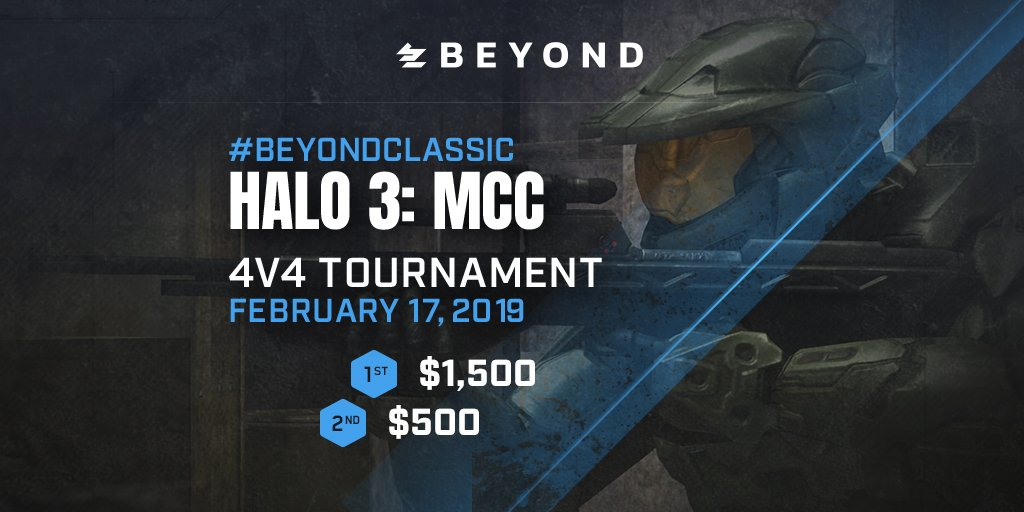 Only two days left! Team spots are still available for the #BeyondClassic $2,000 Halo 3 4v4 Tournament on 2/17!  Register & finalize your roster by Sunday to compete!  ⚔️ Register (Free Entry): https://t.co/hKDkxLVOPN 📖 Check-In Guide:  https://t.co/R3a9UHz7Pi