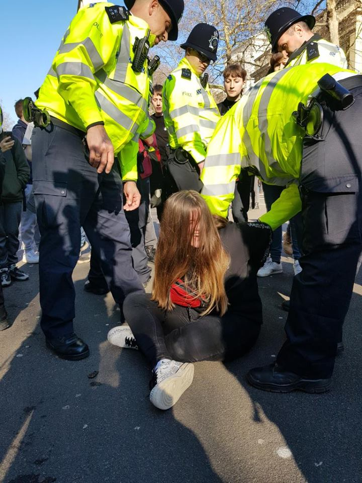 ACAB! Cops arresting students for protesting for there future #climatestrike #climatechange #studentstrike #ClimateAction #ClimateEmergency #ClimateCrisis #ACAB