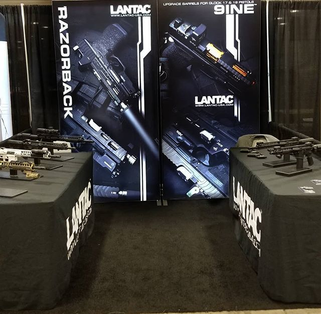 My office for the week @lantac_usa  @nations_best_sports . . . #multicam #camo #ar15 #556 #glock #9mm #tradeshow #lifeofasalesman #igguns #gunsofinstagram #fortworth #pistol #rifle #evilblackrifle #razorbacks #glory #friyay #beautiful #nfa #suppressor #sot