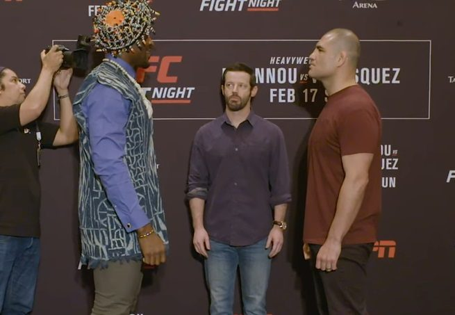 #UFC Phoenix: Watch Francis Ngannou & Cain Velasquez Faceoff at Media Day - https://www.mmafrenzy.com/174428/ufc-phoenix-watch-francis-ngannou-cain-velasquez-faceoff-at-media-day/ … #UFCPhoenix