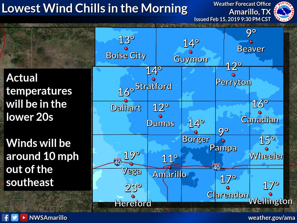Wind chill readings will fall into the teens to single digits tonight. Bundle up in the morning. #phwx #okwx #txwx