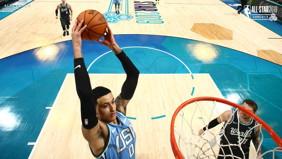 Leads all players with 25 points. Let's get him that MVP.  Kyle Kuzma #MTNDEWICERisingStars