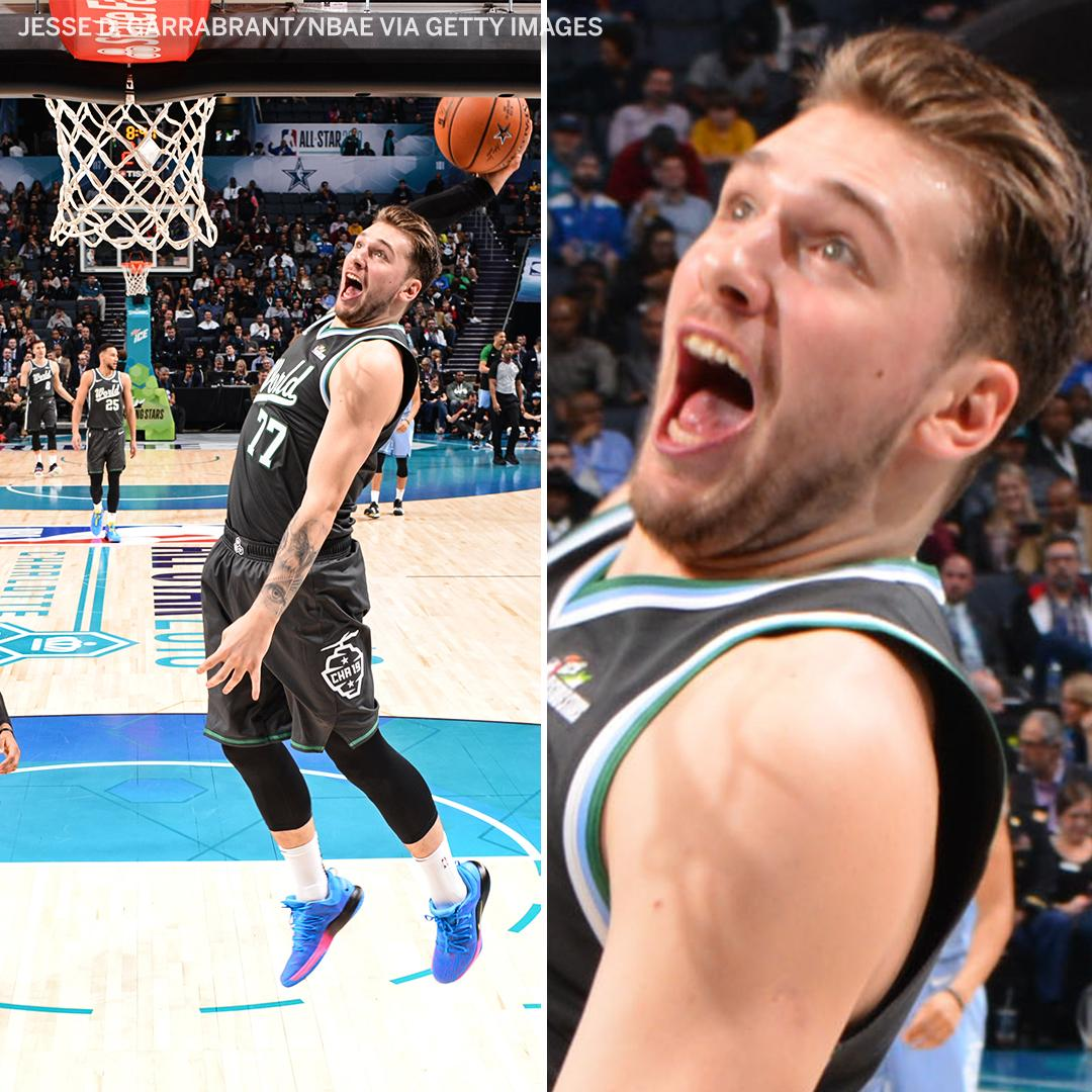 Luka was very excited to throw this one down 😂