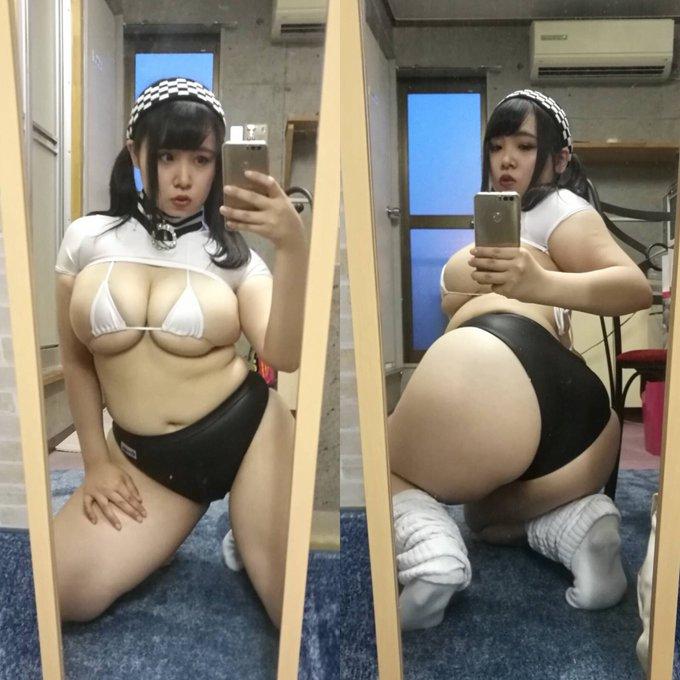 AV女優三苫うみのTwitter自撮りエロ画像37